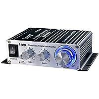 デジタル高音質パワーアンプ 2chステレオ(20W+20W) Lepy(lepai)デジタルアンプ カーアンプ アダプター付属 ◇LP-2024A ブラック
