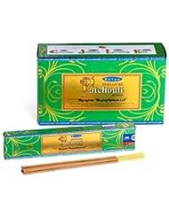 SatyaナチュラルPatchouli Incense Sticks 15グラムパック、12カウントin aボックス