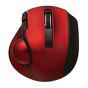 Digio2 Q 極小 トラックボール Bluetoothマウス 静音 5ボタン レッド 48376
