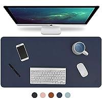 Knodel デスクパッド オフィスデスクマット 31.5インチ x 15.7インチ PUレザー デスクブロッター ノートパソコンデスクマット 防水デスクライティングパッド オフィス 自宅用 両面 ブルー