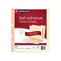 Smead 68025 Manila Self-Adhesive Folder Dividers w/2-Prong Fastener 2-Sect Letter (Pack of 25) [並行輸入品]
