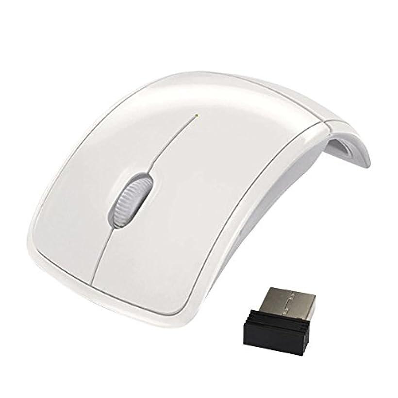 YideaHome マウス 折りたたみ式 光学無線式 ワイヤレス 2.4 Ghz 静音 小型 USB受信機付き パソコン対応
