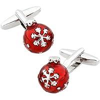 MRCUFF Christmas Ball Ornament Pair Cufflinks in a Presentation Gift Box & Polishing Cloth