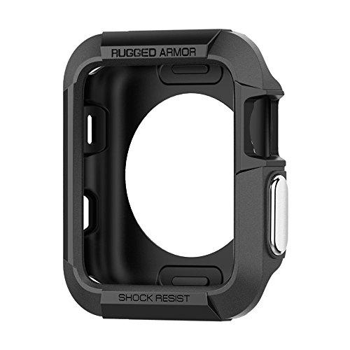 【Spigen】 Apple Watch Series 3 / Series 2 / Series 1 ケース, (42mm) [ 落下 衝撃 吸収 ] [ TPU ケース ] ラギッド・アーマー アップルウォッチ カバー シリーズ 3 / シリーズ 2 / シリーズ 1 対応 (ブラック【SGP11496】)