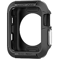 【Spigen】 Apple Watch ケース 落下 衝撃 吸収 Series 3 / Series 2 / Series 1 42mm 対応 ラギッド・アーマー SGP11496 (ブラック)