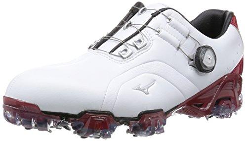 [ミズノ ゴルフ] MIZUNO GOLF GENEM 006 Boa ゴルフシューズ EEE(3E) 51GM1600 62 (ホワイト×レッド/260)