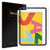 【ガイド枠付き】Nimaso iPad 10.2 インチ (第七世代) 用 フィルム 強化ガラス 液晶保護フィルム