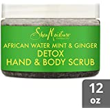 Shea Moisture African Water Mint & Ginger Detox Hand and Body Scrub, 340g