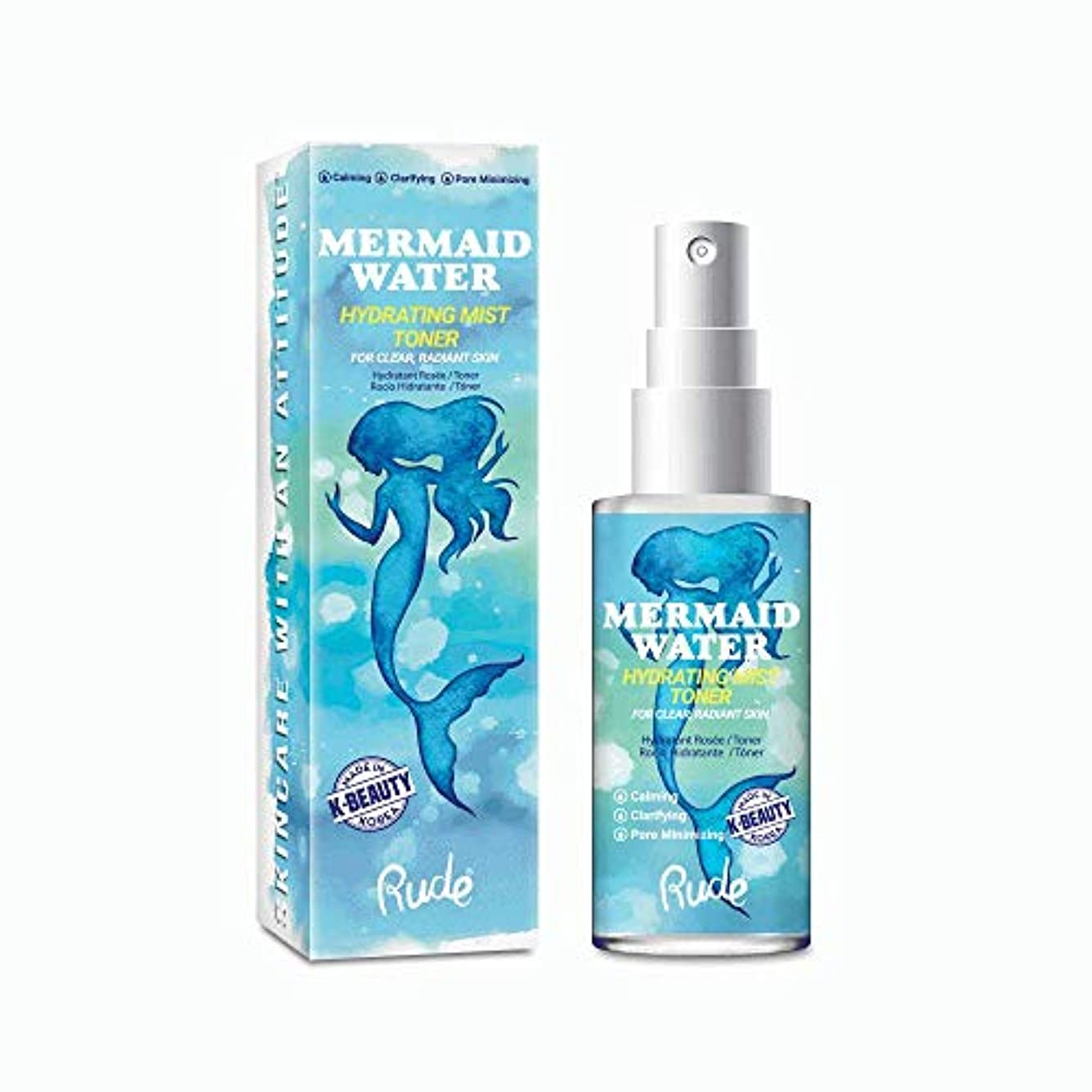 実用的修正褒賞(3 Pack) RUDE Mermaid Water Hydrating Mist Toner (並行輸入品)