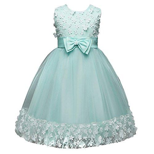 878d442cb9ebb 子供ドレス キッズドレス ワンピース女の子 ガールズフォーマル ピアノ発表会 結婚式 入園式 演奏会 花嫁介添人 ノースリーブドレス  (グリーン