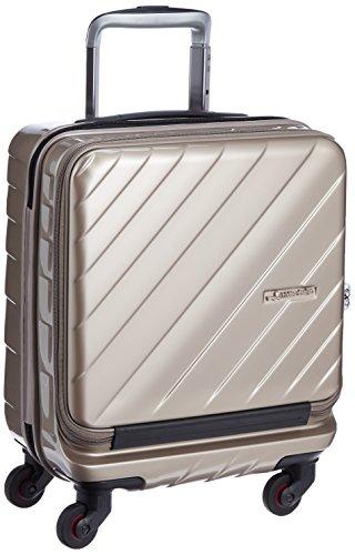 [ヒデオワカマツ] スーツケース ジッパー フロントオープン マックスキャビンウェーブ 機内持込最大容量 機内持ち込み可 85-76330 保証付 25L 45 cm 2.8kg ゴールド