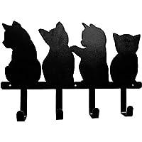 KINGZUO 猫ウォールフック キャットフック 4連 ネジ取り付け