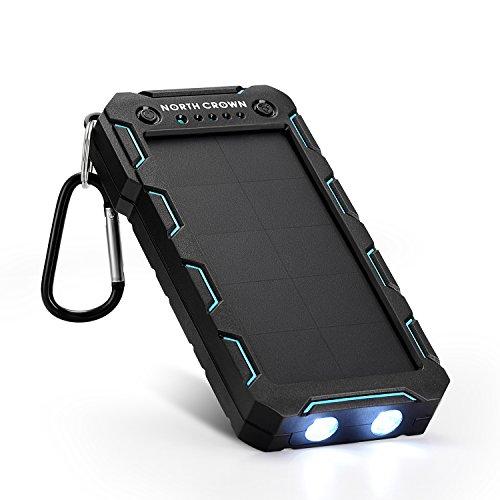 North Crown ソーラー モバイルバッテリー 15000mAh超大容量 改良版