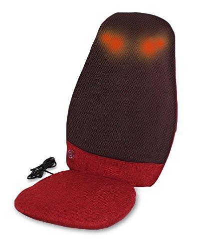 (富士メディック) 医療機器認定 シートマッサージャー レッド 赤 (4つの強力揉み玉が温めながらコ...