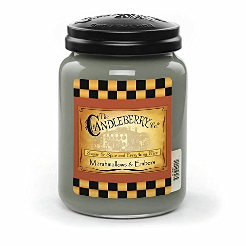 Marshmallow &残り火26オンスLarge Jar Candleberry Candle