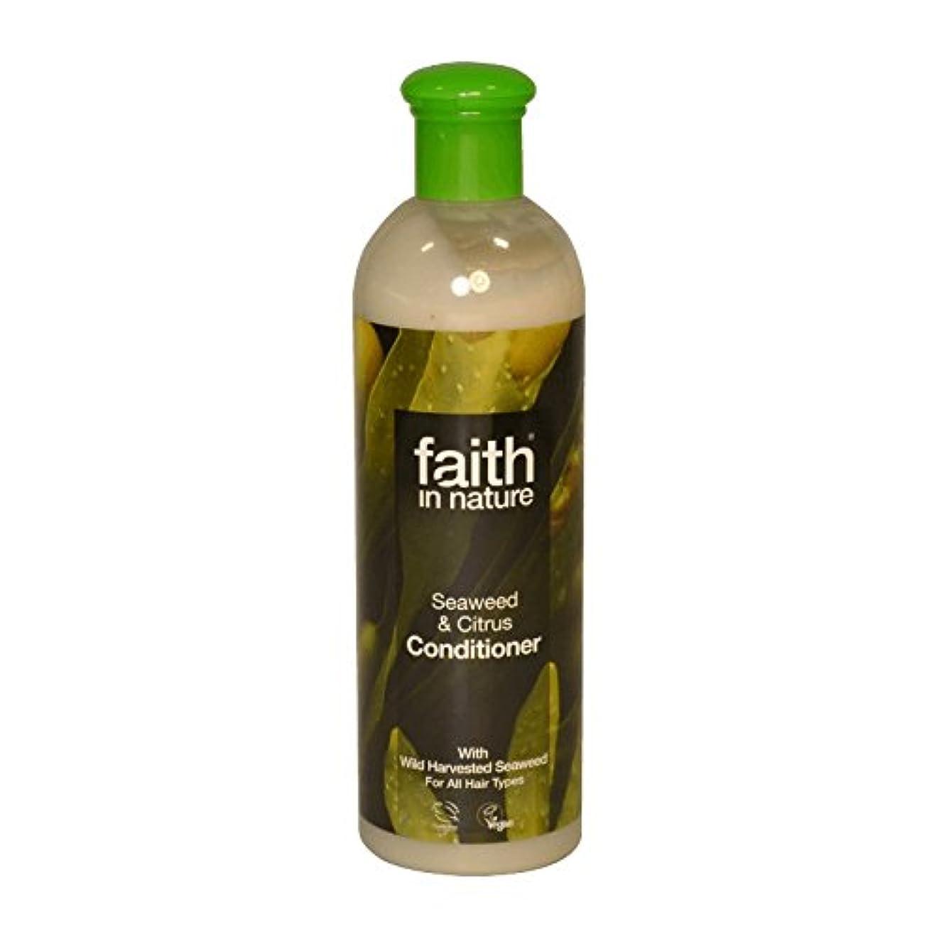 固有の謎デッドFaith in Nature Seaweed & Citrus Conditioner 400ml (Pack of 6) - 自然の海藻&シトラスコンディショナー400ミリリットルの信仰 (x6) [並行輸入品]