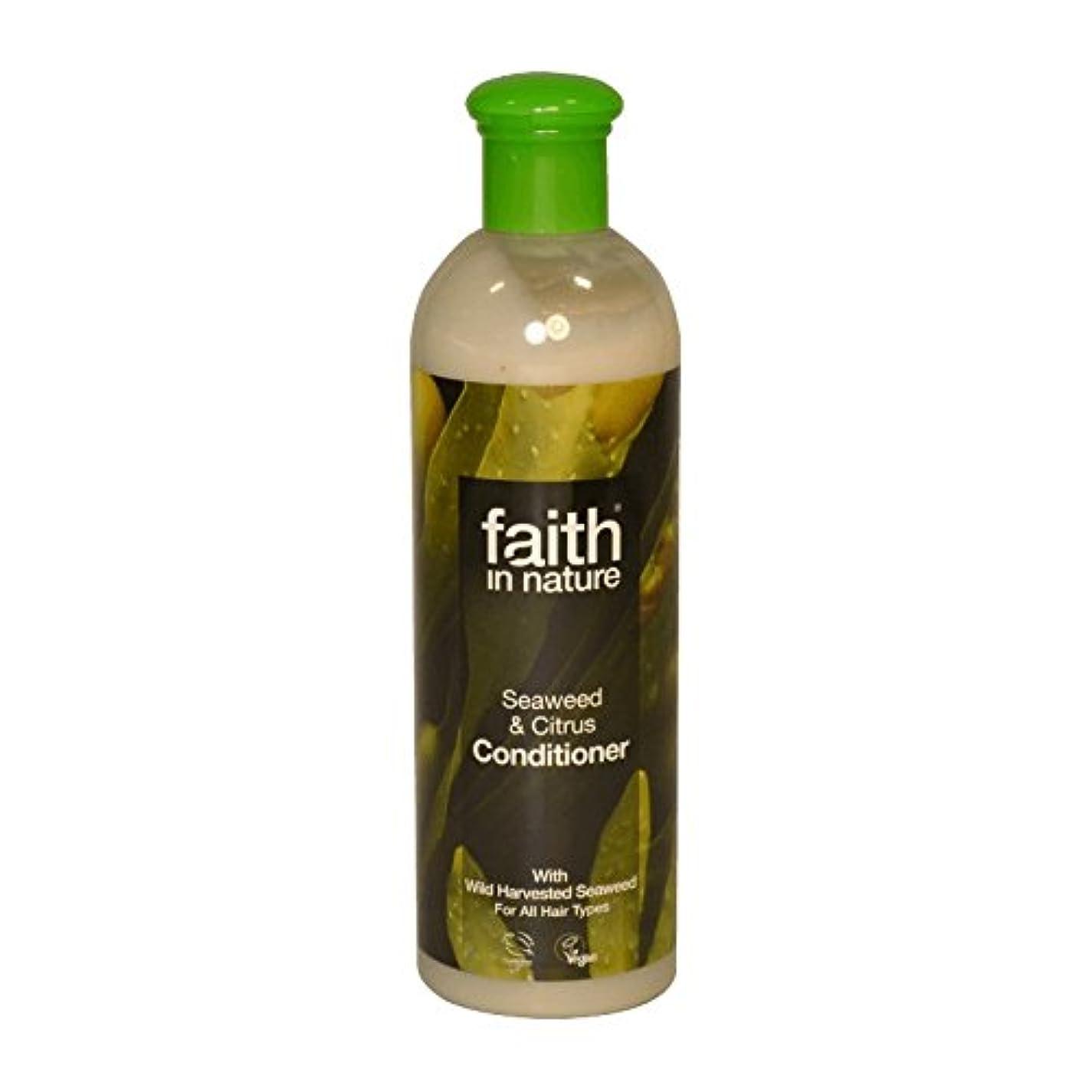 建設上昇インドFaith in Nature Seaweed & Citrus Conditioner 400ml (Pack of 6) - 自然の海藻&シトラスコンディショナー400ミリリットルの信仰 (x6) [並行輸入品]