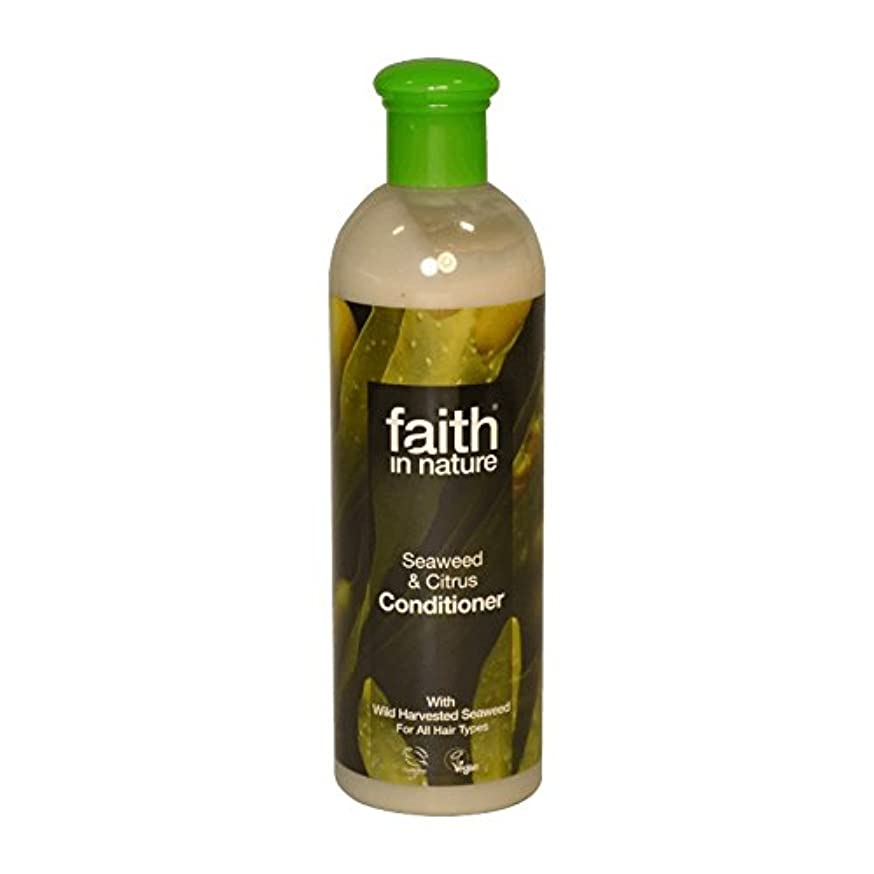 健康マウント長々とFaith in Nature Seaweed & Citrus Conditioner 400ml (Pack of 6) - 自然の海藻&シトラスコンディショナー400ミリリットルの信仰 (x6) [並行輸入品]