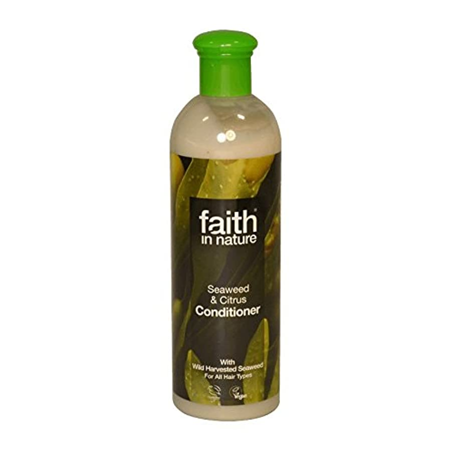 寝室を掃除する回るライナーFaith in Nature Seaweed & Citrus Conditioner 400ml (Pack of 6) - 自然の海藻&シトラスコンディショナー400ミリリットルの信仰 (x6) [並行輸入品]
