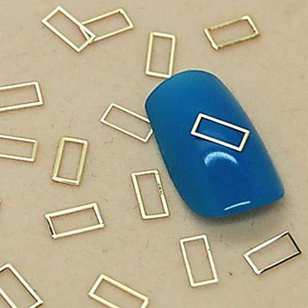 操る伸ばす壊滅的な3D超薄金スムーズロの字型の装飾DIY合金のデザインネイルアートマニキュアアクセサリー
