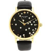 [ケイトスペード] 腕時計 レディース KATE SPADE KSW1395 ブラック イエローゴールド [並行輸入品]