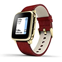 Pebble Time Steel Smartwatch for Apple/Android Devices - Gold by Pebble Technology Corp