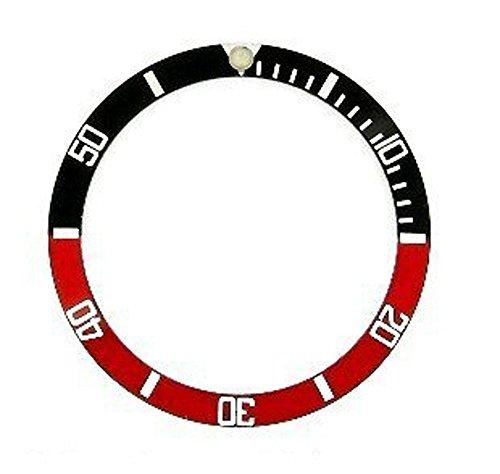 ROLEX ロレックス サブマリーナ 用 ベゼルディスク 社外品 16610,16800 ブラック/レッド/ホワイト