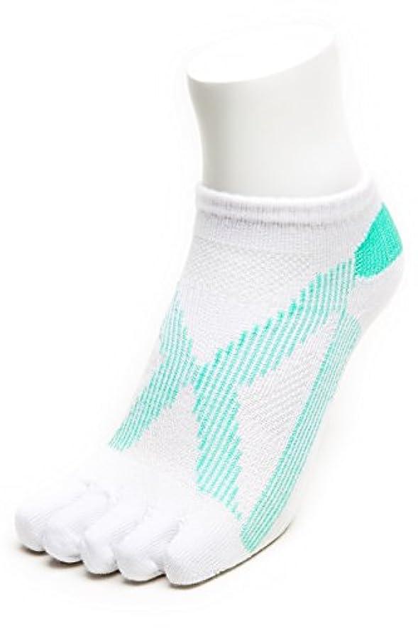 AIRエアーバリエ 5本指ソックス (22~25㎝?ホワイト)テーピング ソックス 歩きやすく疲れにくい靴下 【エコノレッグ】【レディース 靴下】 (ホワイト)