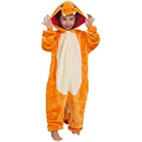 Nobrand Autumn and Winter Flannel Children Small fire Dragon Cartoon Animal Piece Pajamas Female Home Service Costumes