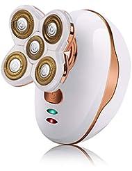 5カッターヘッド電気メンズかみそり、ファッション充電式防水シェービングカミソリ,White
