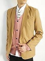 (モノマート) MONO-MART 1つボタン デザイナーズ テーラードジャケット 薄手 スーツ生地