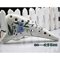 オカリナ ocarina アルトC 陶器製 (凌霄花(ノウゼンカズラ))