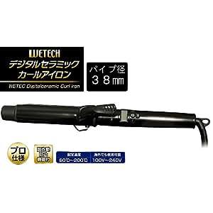 ヘアアイロン WETECH デジタルセラミックカールアイロン 38mm WJ-794(海外対応) 【人気 おすすめ 】