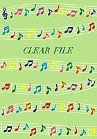 【10枚セット】クリアーファイル 楽譜 BCF326【ご注文1回につき1個 サン・クロレラ サンプルプレゼント!】