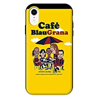 iPhoneXR iPhoneケース (ハードケース) [カード収納/耐衝撃/薄型] Soccer Junky (サッカージャンキー) Biau Grana CollaBorn