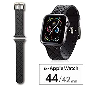 エレコム Apple Watch バンド 44mm/42mm シリコン イントレチャート   ブラック AW-44BDSCIBK