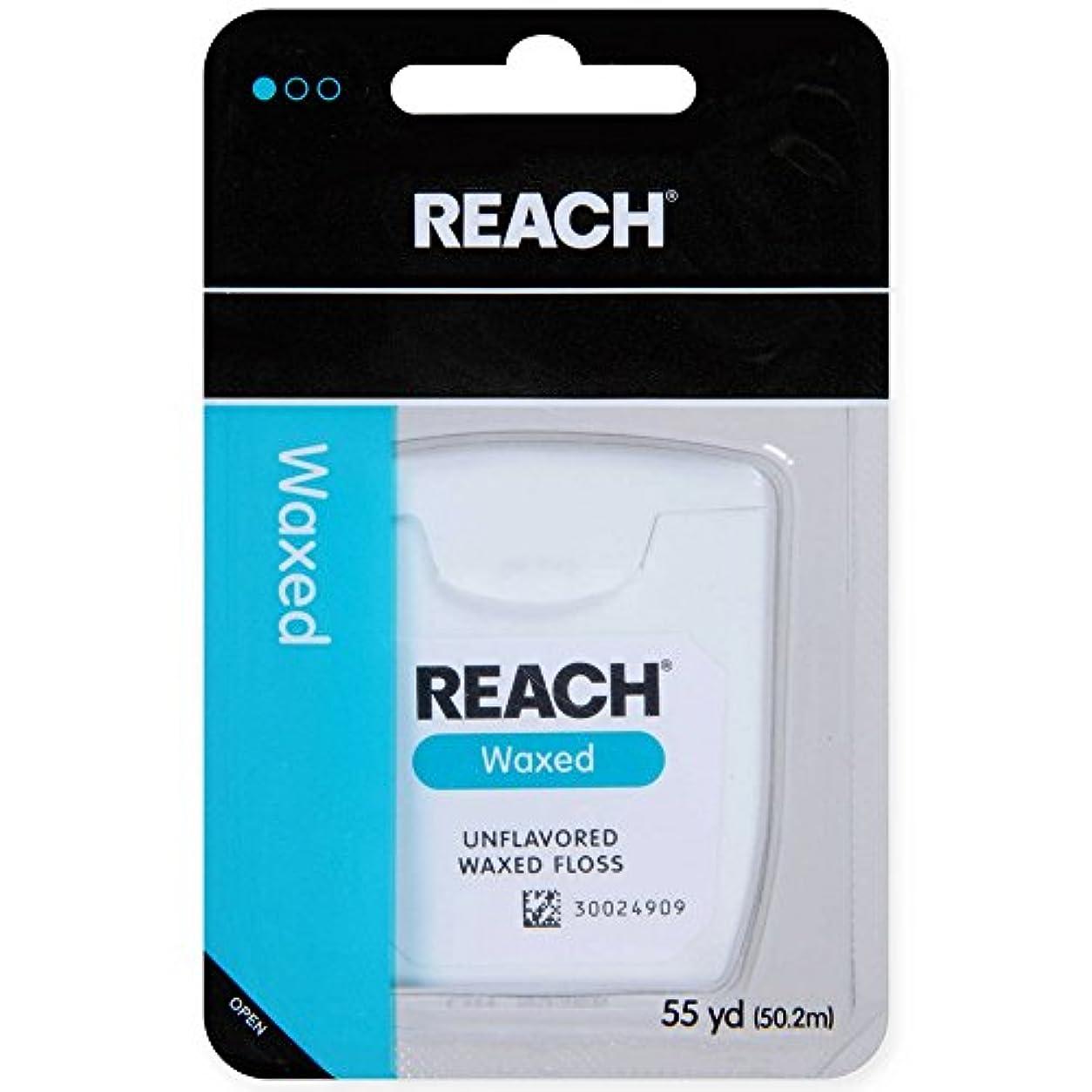 擬人試してみる評決REACH デンタルフロス ワックス?ノンフレーバー