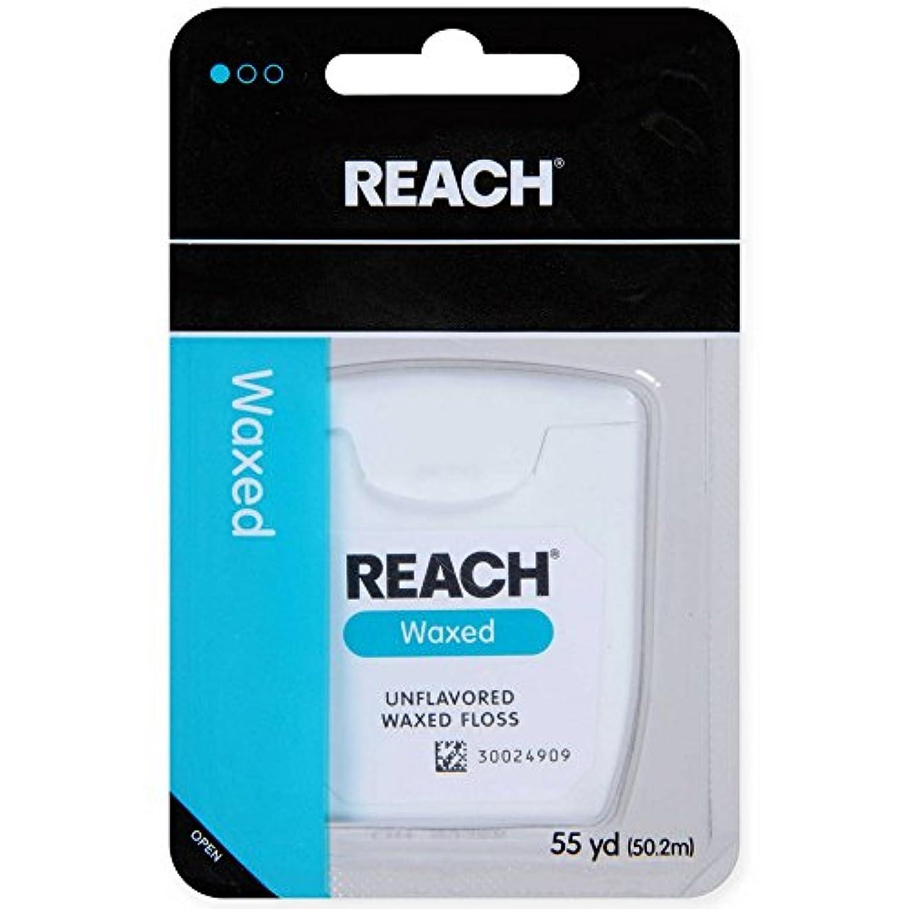 時制真っ逆さま現実的REACH デンタルフロス ワックス?ノンフレーバー