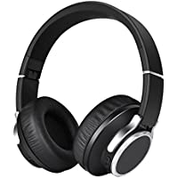 ヘッドホンbluetooth ,Elekele 重低音 騒音隔離ブルートゥース 4.1 密閉型 ヘッドホン ワイヤレス ステレオ ヘッドセット ヘッドアーム伸縮可能(bluetoothヘッドセット)