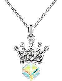 karvnar Princess Loverペンダントネックレス、女性のためのギフトジュエリーMade with Swarovski Crystals