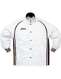 アシックス(asics) ジュニア ウォームアップジャケット XBJ118 0190 ホワイト/ブラック 150