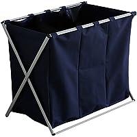 ルームアンドホーム ゴミ箱 収納ボックス 分別 3分タイプ ウノ ネイビー 61×37×57cm