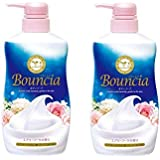 BOUNCIA Body Soap - Airy Bouquet,Highly moisturizing body soap that protects moisture with the best dense foam 2 pack