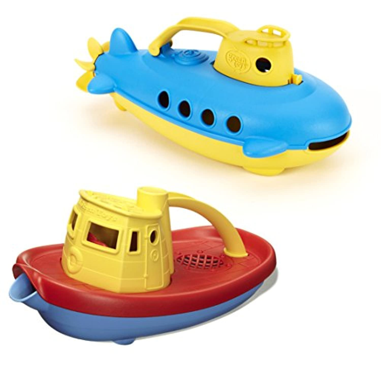 Green Toys Submarine & Tug Boat Bath Toys by Green Toys