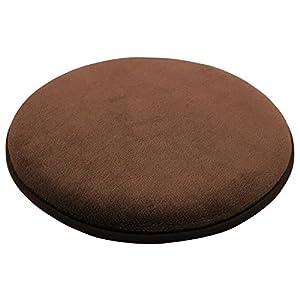 トレードワン 座布団 チェアパッド ラウンド ブラウン 直径35cm 30165