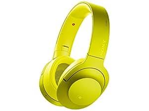 ソニー SONY ワイヤレスノイズキャンセリングヘッドホン h.ear on Wireless NC MDR-100ABN : Bluetooth/ハイレゾ対応 マイク付き ライムイエロー MDR-100ABN Y