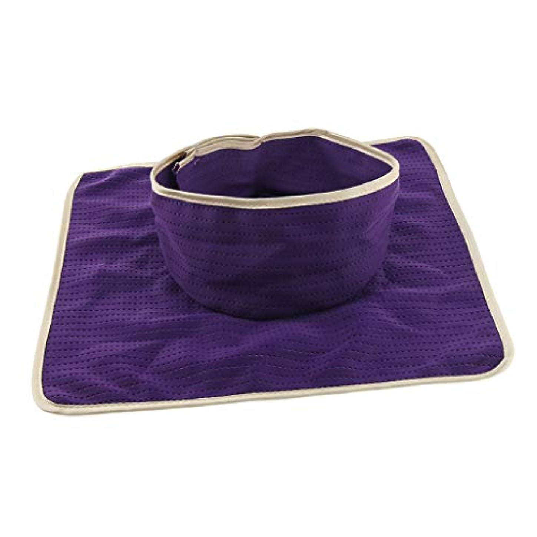 テメリティバインド瞑想するマッサージ ベッドカバー シート パッド 洗濯可能 再利用可能 約35×35cm 全3色 - 紫