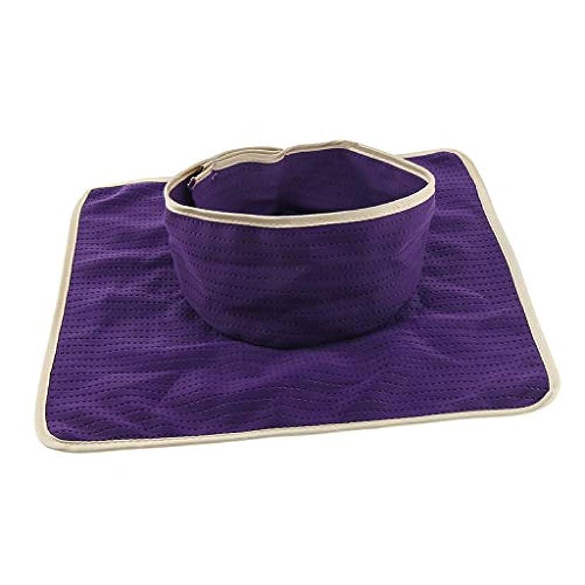 くつろぎランク背骨マッサージ ベッドカバー シート パッド 洗濯可能 再利用可能 約35×35cm 全3色 - 紫
