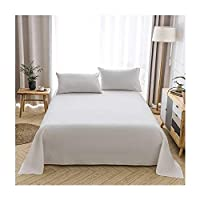 シーツ、寝室の綿のワンピースソリッドカラーシンプルなシングルダブルベッドホテル寮ベッドカバー (色 : D, サイズ さいず : 240*250cm)