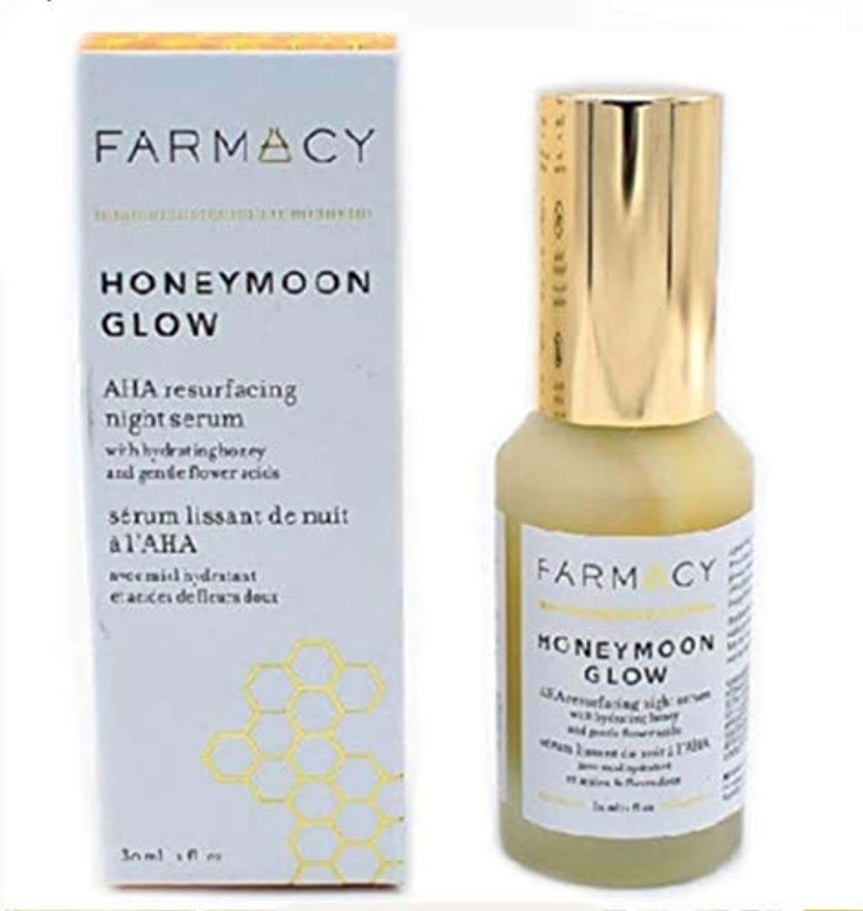 一般的ななので鼓舞するファーマシー FARMACY HONEYMOON GLOW AHA Resurfacing Night Serum with Hydrating Honey + Gentle Flower Acids 美容液 セラム 夜用